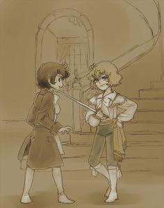 Oscar André kids like manga's scene