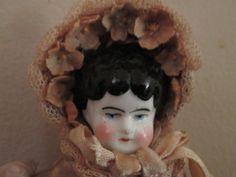 Antique German China Head Doll Low Brown by ParisPaintingsEtc, $55.00