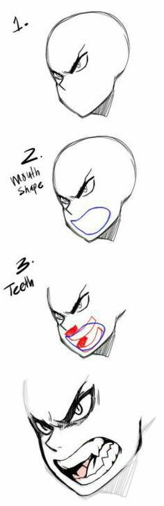 Manga Drawing Techniques image More - Drawing Reference Poses, Drawing Poses, Manga Drawing, Drawing Tips, Drawing Ideas, Anatomy Drawing, Drawing Stuff, Anime Mouth Drawing, Face Anatomy