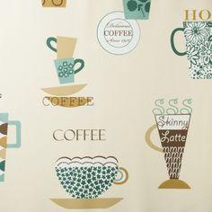 Tapeta Galerie Fresh Kitchen 5 FK34429 - tapeta do kuchni w stylu retro z kolorowymi filiżankami kawy. Tapeta sprawdzi się także w nowoczesnych stylizacjach.