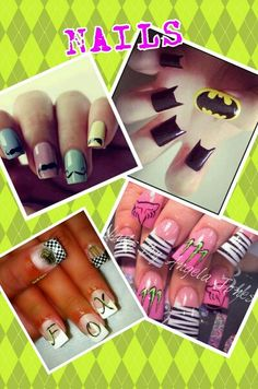 Nails--I like the zebra and pink ones!