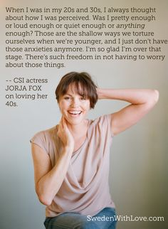 CSI's Jorja Fox gets real -- and funny -- in an exclusive interview on wwwSwedenWithLove.com. Photograph by Elizabeth Messina.