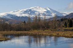 Callander, Scotland. A view of Ben Ledi over the River Teith. 1000 Piece Puzzle. Callander, Scotland. A view of Ben Ledi over the River Teith.