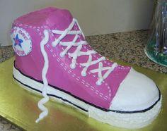 Pink Converse shoe cake for Sweet 16.JPG
