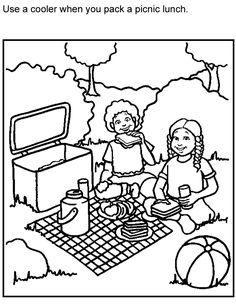 coloring pages of picnic  blanket | ... pages page protectors pens stickers scissors 17 cleaning products