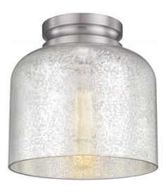 Feiss 1 - Light Hounslow Flushmount Brushed Steel FM408BS From Hounslow Collection