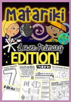 Our popular Matariki resource is now more accessible for our lower primary learners!  This 40 page A4 pack is designed to support your classroom discussions about Matariki celebrations. Mix and match from the large selection of pages to best meet the needs of your class...