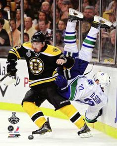 Brad Marchand check on the Canucks HAHA