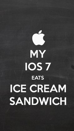 MY IOS 7 EATS ICE CREAM SANDWICH