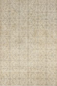 5x8.4 Ft Neutral Vintage Oushak Rug. Muted colors by SplendidRugs