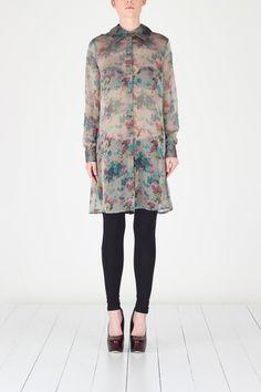 Barbara van der Zanden  Floral Print Shirt Dress  138 EUR  Size  Guide