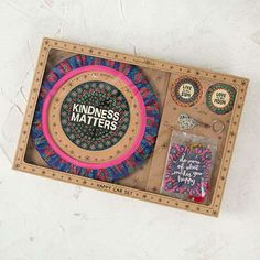 Natural Life Happy Car 7 Piece Gift Set- Steering Wheel Cover, Car Magnet, Car Fresheners, Car Coasters & Key Chain
