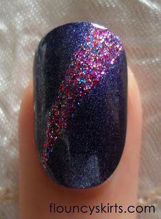 Taped Glitter Stripe