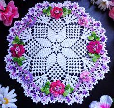 "new  hand crochet   doily 12"""