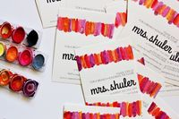 enJOY it by Elise Blaha Cripe: watercolor bridal shower invites.