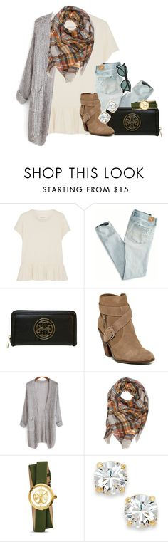 """the fosters is so good!!!!"" by thefashionbyem ❤ liked on Polyvore featuring The Great, American Eagle Outfitters, Tory Burch, Dolce Vita, Kate Spade, Ray-Ban, women's clothing, women, female and woman"