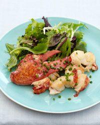Lobster Salad with lobster-infused olive oil vinaigrette.