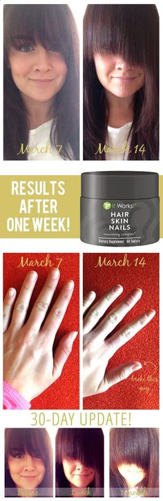 One Week to Longer Hair and Nails!