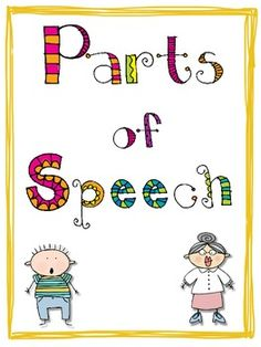 Bright and Colorful Parts of Speech Posters ~ FREEBIE!!