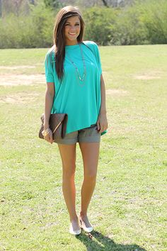 Show Your Soft Side Top, Jade   www.themintjulepboutique.com