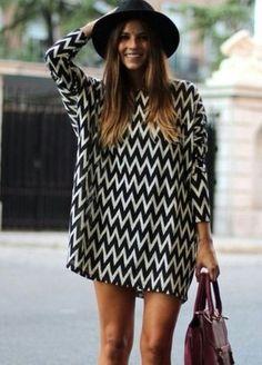 Monochrome Missoni Style Tunic / Dresses / Bow & Blossom - Online Boutique