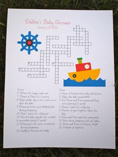 baby shower on pinterest crossword puzzles crossword and baby