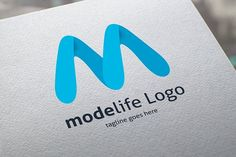 ModeLife Logo Templates - The Logo Is 100 Vector- 100 Customizable- CMYK- High Quality- AI, EPS, JPEG- All colors and by tkent