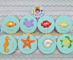 Poyraz'ın 2. doğumgünündeki balık ve deniz canlıları temalı kurabiyeleri...