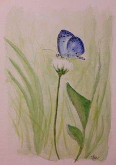"""""""blue without you""""  • 9 x 12 Watercolor"""