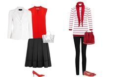 Weekly Outfit - Black, White and Red