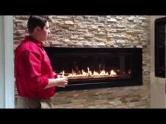 Napoleon Linear Gas Fireplace 5th Avenue Propane Natural Gas Product Review LHD50 - YouTube
