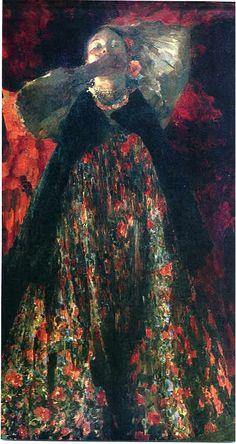 Philip Andreyevich Maliavin (Russian Painter, 1869-1940) Peasant Girl 1903