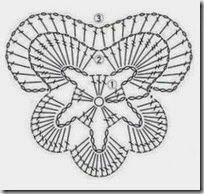How to crochet pansies - tutorial violeta Crochet Leaves, Crochet Motifs, Freeform Crochet, Crochet Diagram, Crochet Chart, Thread Crochet, Crochet Doilies, Crochet Stitches, Crochet Flower Tutorial