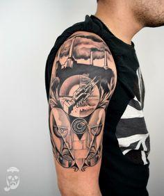 Forearm Sleeve Tattoos, Top Tattoos, Tatoos, Imagenes Pink Floyd, Pink Floyd Art, Jesus Face, Irezumi, Blackwork, I Tattoo
