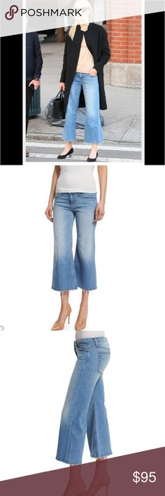 NWT Joe's Jeans Icon Gaucho Crop sz 27 Soft denim mid rise wide leg crop with frayed hemline detail. As seen on Kate Bosworth. Joe's Jeans Jeans
