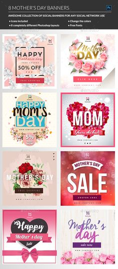 Mothers Day Banner  Banner Template Banners And Template