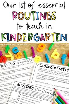 Our List of Essential Routines to Teach in Kindergarten Kindergarten Lesson Plans, Kindergarten Teachers, Classroom Organisation, Classroom Management, Teacher Resources, School Resources, Teaching Ideas, First Week Activities, Student Photo