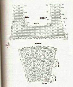 Solo esquemas y diseños de crochet: VESTIDO NIÑA