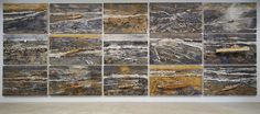 Anselm Kiefer. V elimir Chlebnikov, 2004  30 paintings: oil, emulsion, acrylic, lead and mixed media on canvas 18 paintings: 75 x 130 inches (190.5 x 330 cm) each 12 paintings: 75 x 110 inches (190.5 x 280 cm) each Hall Collection