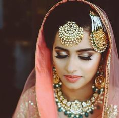 Punjabi Bride, Punjabi Wedding, Sikh Bride, Pakistani Bridal Makeup, Wedding Beauty,