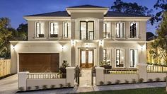 EUROPEAN design and traditional Asian building systems combine to deliver serious modern luxury at this new Monash stunner. - Luxury Homes Luxury Modern Homes, Modern Mansion, French Provincial Home, Facade House, House Facades, House Floor, Design Case, Modern House Design, Home Fashion