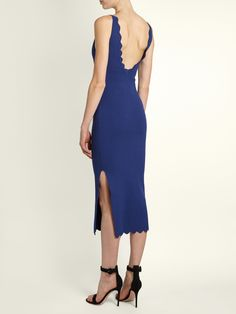 Click here to buy Altuzarra Beatrix scallop-edged sleeveless dress at MATCHESFASHION.COM