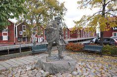 Hudiksvall. The old fisherman......
