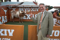 Steve Patterson attends his first Longhorns game as UT Athletics' new athletics director.