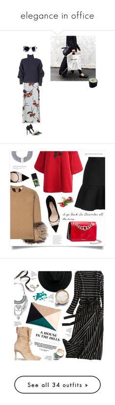 """elegance in office"" by izoche ❤ liked on Polyvore featuring Sanders, Balenciaga, Michael Kors, Miu Miu, Chicwish, Bex Rox, Illamasqua, Alexander White, Sweet Romance and Bershka"