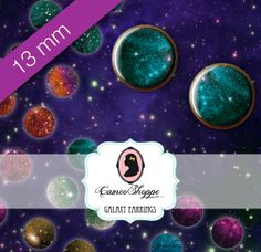 Digital Collage Sheet Circle 13 mm GALAXY 02 for 12 by cameoshoppe, $4.50