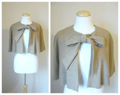 VintageInspired  WOOL CAPELET in by clotheslinesvintage on Etsy,