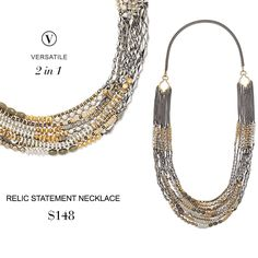 Weekly Want: Hand-strung beads in mixed metals pair with anything in your closet. Wear it long or short – it's two necklaces for the price of one. www.stelladot.com/Mrssaramiller  #weeklywant
