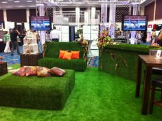 loved this at Biz Bash Florida the grass collection was available in all locations!