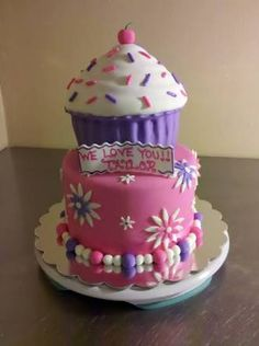 giant cupcake cake decorating ideas - Google Search